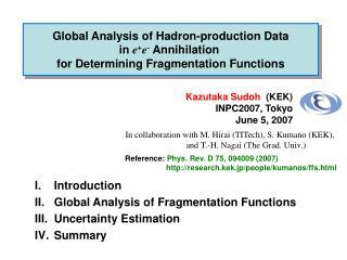 Kazutaka Sudoh   (KEK) INPC2007, Tokyo June 5, 2007