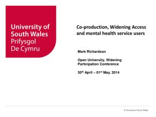Co-production, Widening Access and mental health service users