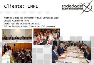 Cliente: INPI