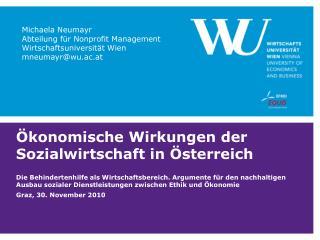 Ökonomische Wirkungen der Sozialwirtschaft in Österreich