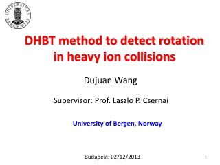 DHBT method to detect rotation in heavy ion collisions