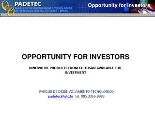 Opportunity for investors