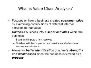 What is Value Chain Analysis?