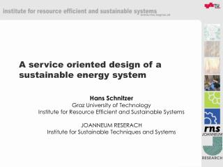 A service oriented design of a sustainable energy system