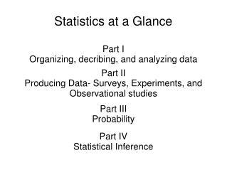 Statistics at a Glance