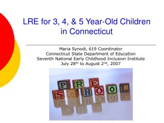 LRE for 3, 4, & 5 Year-Old Children in Connecticut
