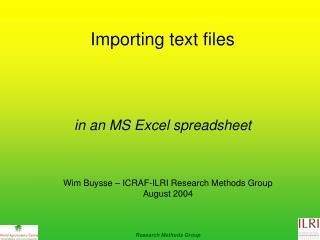 Importing text files