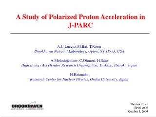 A Study of Polarized Proton Acceleration in J-PARC