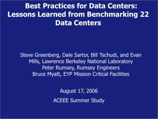 The Data Center Challenge