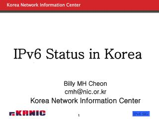 IPv6 Status in Korea