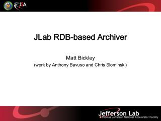 JLab RDB-based Archiver