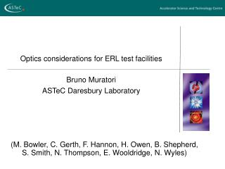 Optics considerations for ERL test facilities