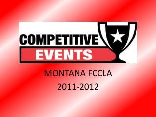 MONTANA FCCLA 2011-2012