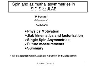 Spin and azimuthal asymmetries in  SIDIS at JLAB