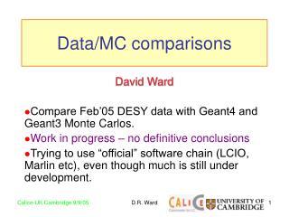 Data/MC comparisons