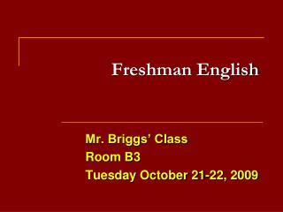 Freshman English