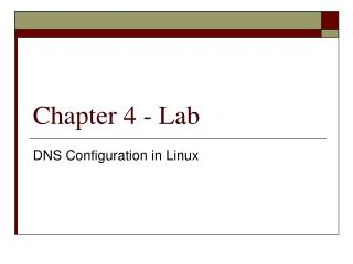 Chapter 4 - Lab