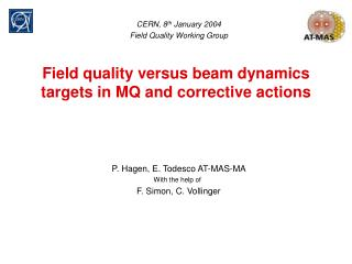 Field quality versus beam dynamics targets in MQ and corrective actions