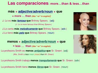 Las comparaciones : more…than & less…than