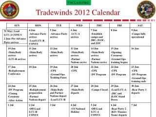Tradewinds 2012 Calendar