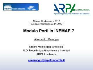 Modulo Porti in INEMAR 7
