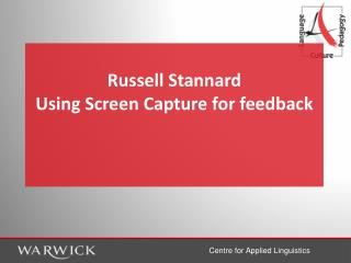 Russell Stannard Using Screen Capture for feedback