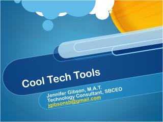 Cool Tech Tools