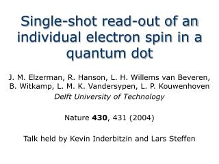 Single-shot read-out of an individual electron spin in a quantum dot