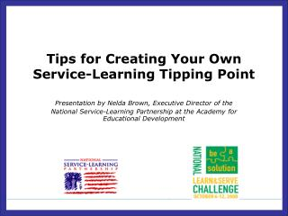 Tips for Creating Your Own  Service-Learning Tipping Point