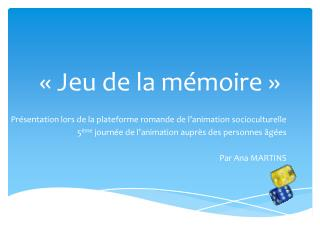 « Jeu de la mémoire »