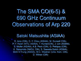 The SMA CO(6-5) & 690 GHz Continuum Observations of Arp 220