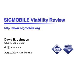 SIGMOBILE Viability Review sigmobile