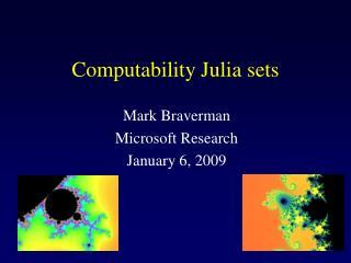 Computability Julia sets