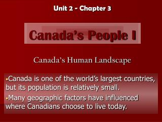 Canada's People I