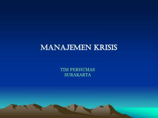 Manajemen krisis TIM PERHUMAS SURAKARTA