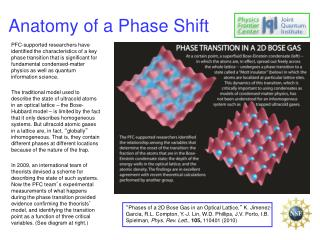 Anatomy of a Phase Shift