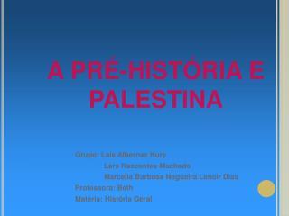 Grupo: La s Albernaz Kury  Lara Nascentes Machado  Marcella Barbosa Nogueira Lenoir Dias Professora: Beth Mat ria: Hist