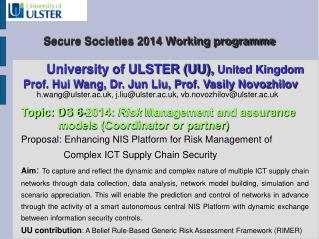 Secure Societies 2014 Working programme
