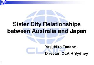 Sister City Relationships between Australia and Japan