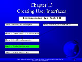 Chapter 13 Creating User Interfaces
