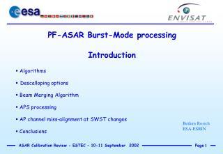 PF-ASAR Burst-Mode processing Introduction