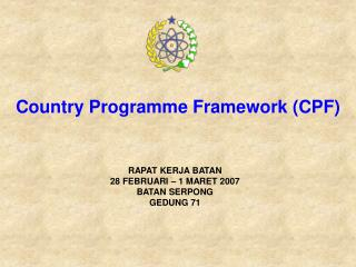 Country Programme Framework (CPF)