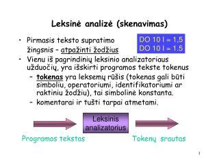 L eksinė analizė  ( sk e navimas)