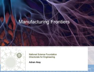 Manufacturing Frontiers