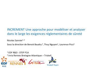 Nicolas Sannier 1, 2 Sous la direction de Benoit Baudry  2 , Thuy Nguyen 1 , Laurence Picci 1