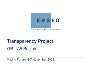 Transparency Project  GRI NW Region