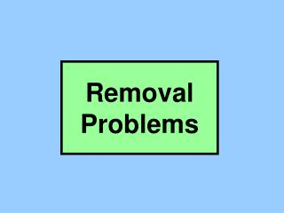 Removal Problems
