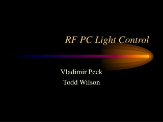 RF PC Light Control