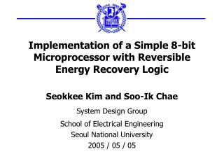 Implementation of a Simple 8-bit Microprocessor with Reversible Energy Recovery Logic
