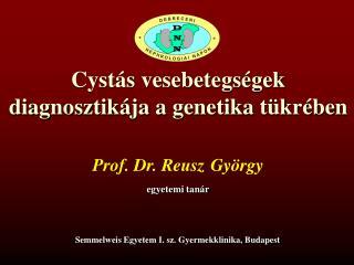 Cystás vesebetegségek diagnosztikája a genetika tükrében